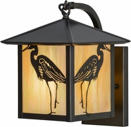 Meyda Tiffany 153951 Seneca Heron Rustic Bai Craftsman Wall Mounted Lamp