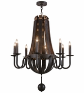 Meyda Tiffany 154052 Barrel Stave Madera Timeless Bronze Flush Mount Lighting