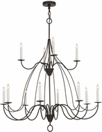 Meyda Tiffany 154070 Polonaise Timeless Bronze Hanging Chandelier