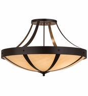Meyda Tiffany 154107 Urban Spoked Timeless Bronze Overhead Lighting