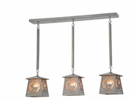 Meyda Tiffany 154179 Deer at Dawn Country Steel / Silver Mica Multi Hanging Lamp