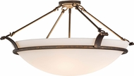 Meyda Tiffany 154196 Almeria Gilded Tobacco Flush Ceiling Light Fixture