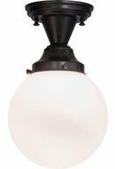 Meyda Tiffany 154223 Revival Schoolhouse Fluorescent Flush Mount Ceiling Light Fixture