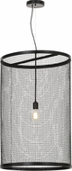 Meyda Tiffany 154248 Cilindro Cage Contemporary Black Hanging Light