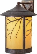 Meyda Tiffany 154259 Fulton Branches Country Hammered Vintage Copper Earth Marble (S / B Out) Exterior Wall Sconce Light