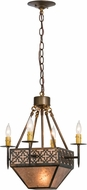 Meyda Tiffany 154280 Gironde Burnished A/C / Silver Mica Pendant Lighting Fixture