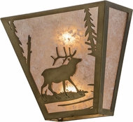 Meyda Tiffany 154317 Elk Creek Rustic Antique Copper / Silver Mica Wall Lamp