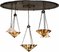 Meyda Tiffany 154324 Jadestone Delta Tiffany Custom Multi Hanging Pendant Light