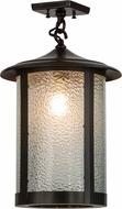 Meyda Tiffany 154341 Fulton Prime Zag / Craftsman Brown Pendant Hanging Light