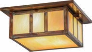 Meyda Tiffany 154389 Hyde Park Double Bar Mission Bai / Vintage Copper Overhead Lighting Fixture