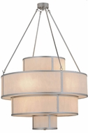 Meyda Tiffany 154447 Jayne Nickel / White Faux Alabaster Ceiling Pendant Light