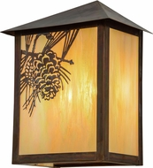 Meyda Tiffany 154452 Seneca Winter Pine Rustic Bai Vintage Copper Outdoor Wall Sconce Lighting