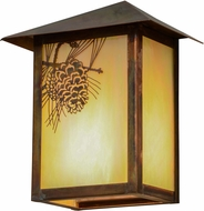 Meyda Tiffany 154453 Seneca Winter Pine Country Bai Vintage Copper Exterior Wall Light Fixture
