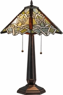 Meyda Tiffany 154481 Glasgow Bungalow Tiffany Table Light