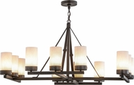 Meyda Tiffany 154636 Parker Classic Rust / Alabaster Acrylic Hanging Chandelier