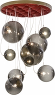 Meyda Tiffany 154828 Bola Plush Modern Brown Metallic Multi Pendant Lighting Fixture
