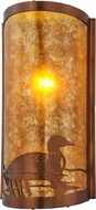 Meyda Tiffany 154908 Loon Rustic Wall Lamp