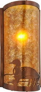 Meyda Tiffany 154909 Loon Country Vintage Copper / Amber Mica Wall Lighting