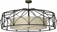 Meyda Tiffany 154957 Contemporary Oil Rubbed Bronze Flush Ceiling Light Fixture
