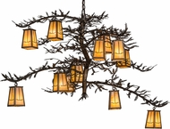 Meyda Tiffany 155019 Pine Branch Valley View Rustic Antique Copper / Bai Chandelier Lamp