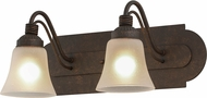 Meyda Tiffany 155293 Antencio Gilded Tobacco / Frosted Glass Wall Sconce Lighting