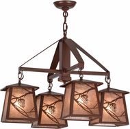 Meyda Tiffany 155512 Whispering Pines Country Rust / Silver Mica Chandelier Light