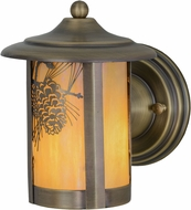 Meyda Tiffany 156016 Fulton Winter Pine Rustic Bai Antique Exterior Wall Light Sconce