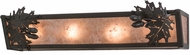 Meyda Tiffany 156119 Oak Leaf & Acorn Rustic Timeless Bronze / Silver Mica Lighting For Bathroom