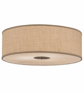 Meyda Tiffany 156281 Cilindro Nickel Fluorescent Flush Mount Lighting Fixture