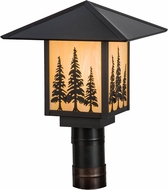 Meyda Tiffany 156411 Seneca Tall Pines Rustic Bai / Craftsman Outdoor Post Lighting Fixture