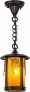 Meyda Tiffany 156675 Fulton Grapes Country Ha Craftsman Mini Pendant Lighting Fixture