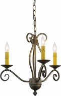 Meyda Tiffany 156774 Sienna French Bronze Mini Chandelier Light