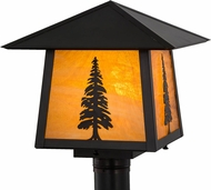 Meyda Tiffany 156820 Stillwater Tall Pine Rustic Exterior Lamp Post Light Fixture
