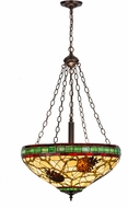 Meyda Tiffany 157147 Burgundy Pinecone Tiffany Beige Xag Burgundy Ceiling Pendant Light