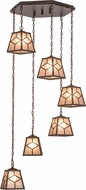 Meyda Tiffany 157208 Diamond Mission Cafe Noir / Silver Mica Multi Drop Ceiling Light Fixture