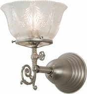 Meyda Tiffany 157268 Revival Summer Wheat Brushed Nickel Brushed Nickel Wall Sconce Lighting
