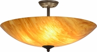 Meyda Tiffany 157366 Madison Modern Timeless Bronze Flush Ceiling Light Fixture