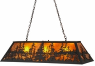 Meyda Tiffany 157852 Tall Pines Country Oil Rubbed Bronze / Amber Mica Kitchen Island Light
