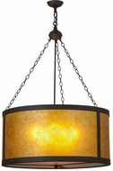 Meyda Tiffany 157853 Smythe Craftsman Amber Mica Oil Rubbed Bronze / Amber Mica Pendant Hanging Light