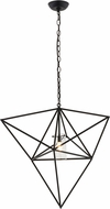 Meyda Tiffany 157864 Geometric Modern Black Halogen Hanging Light Fixture