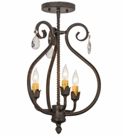 Meyda Tiffany 157891 Antonia Chestnut Mini Hanging Chandelier