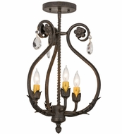 Meyda Tiffany 157893 Antonia Chestnut Mini Chandelier Light