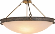 Meyda Tiffany 157931 Dionne Antiquity / Faux Alabaster Sb Out Overhead Light Fixture