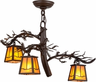 Meyda Tiffany 158070 Pine Branch Valley View Country Cafe Noir / Has Halogen Chandelier Light