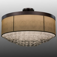 Meyda Tiffany 158190 Mahogany Bronze/Macadamia Flush Ceiling Light Fixture