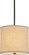 Meyda Tiffany 158218 Cilindro Beige Timeless Bronze Ceiling Pendant Light