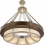 Meyda Tiffany 158295 Pewter / X-Chrome / A/C Drop Ceiling Light Fixture