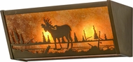 Meyda Tiffany 158336 Moose Creek Country Antique Copper / Amber Mica Bathroom Lighting Fixture