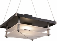 Meyda Tiffany 158390 Metropolis Modern Black Deco / Raw Steel Drop Lighting Fixture