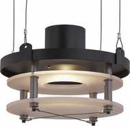 Meyda Tiffany 158391 Atlantis Contemporary Antique Brass / White Acrylic Pendant Lighting